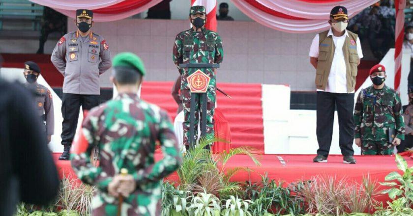 Panglima TNI Pimpin Apel Gabungan Satgas Covid-19 di Bangkalan