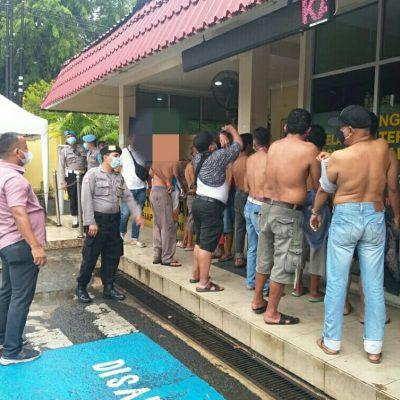 Berantas Aksi Preman, Polresta Padang Amankan 17 Orang