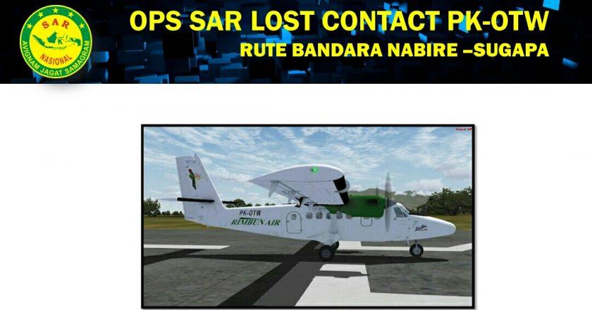 Pesawat Rimbun Air cargo Hilang Kontak di Intan Jaya