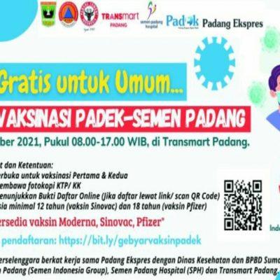 AYO,. Vaksinasi Massal Padek-Semen Padang di Transmart